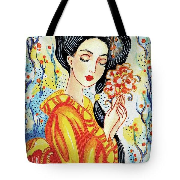 Harmony Flower Tote Bag