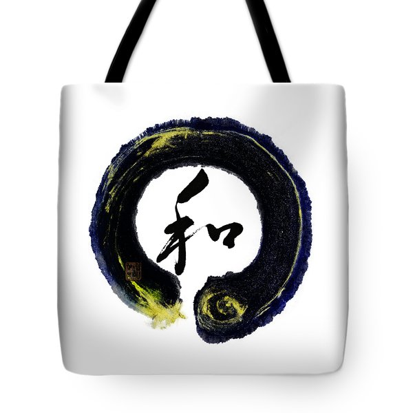 Harmony - Peace With Enso Tote Bag