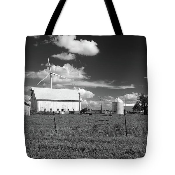 Harnessing The Wind In Indiana Tote Bag by Scott Kingery