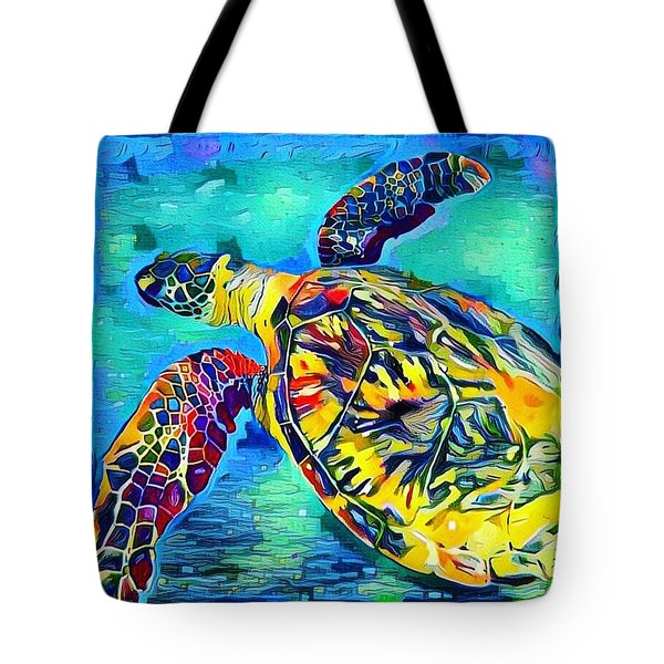 Harold The Turtle Tote Bag