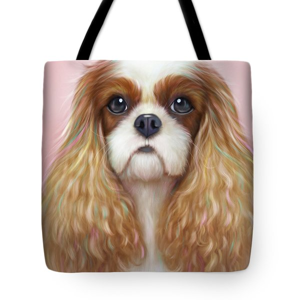 Tote Bag featuring the painting Harper Cavalier by Catia Lee