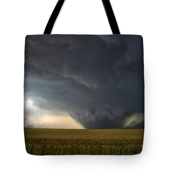 Harper Kansas Tornado 2  Tote Bag by James Menzies