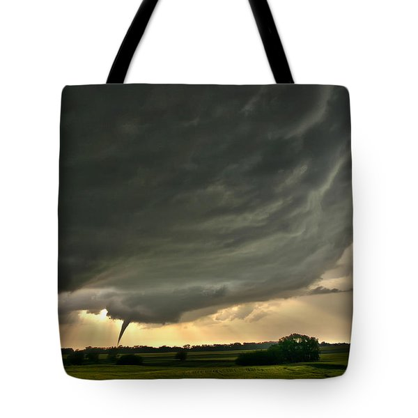 Harper Kansas Tornado Tote Bag by James Menzies