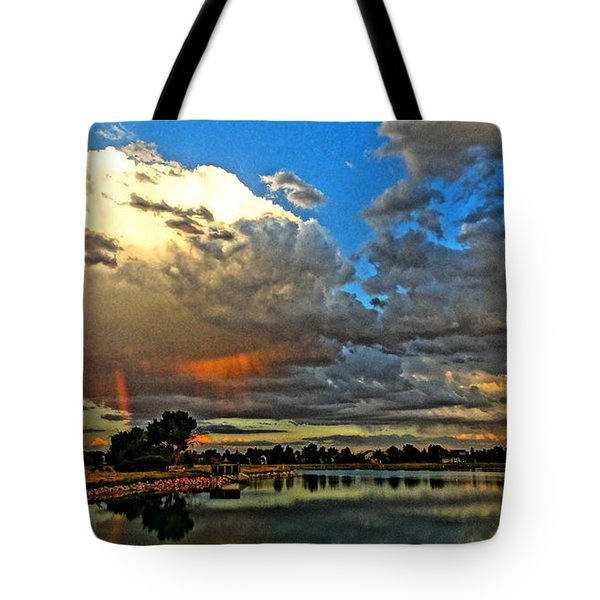 Tote Bag featuring the photograph Harper Lake by Eric Dee