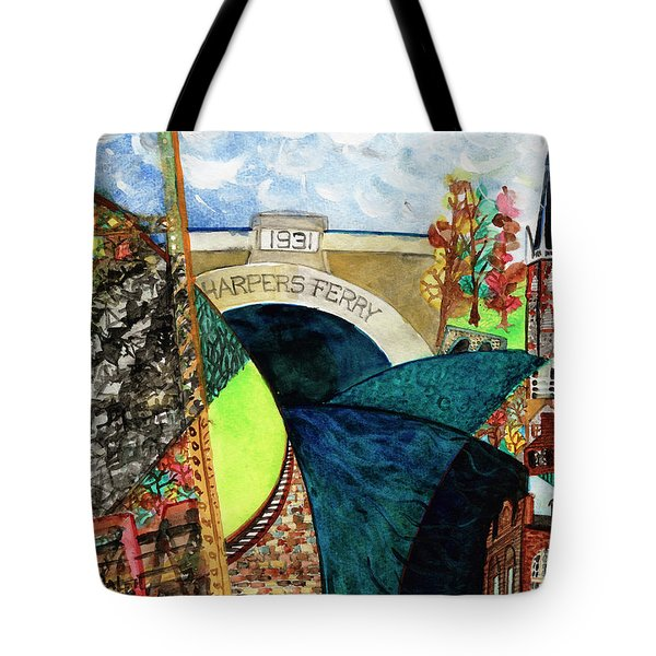 Harpers Ferry Rivers, Railroads, Revolvers Tote Bag