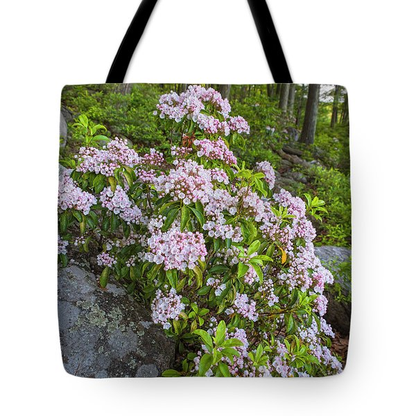 Harriman Pink And White Mountain Laurel Tote Bag