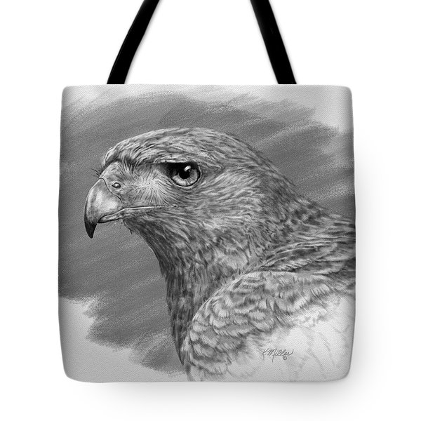 Harris Hawk Drawing Tote Bag