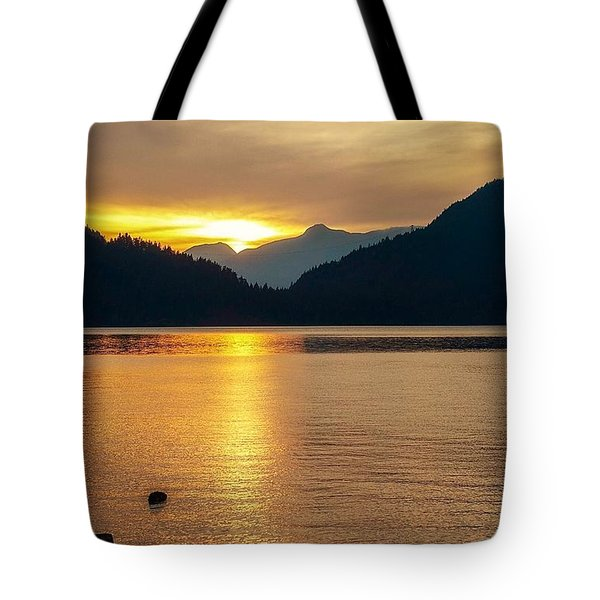 Harrison Lake, British Columbia Tote Bag