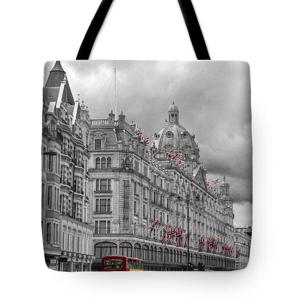 Harrods Of Knightsbridge Bw Hdr Tote Bag