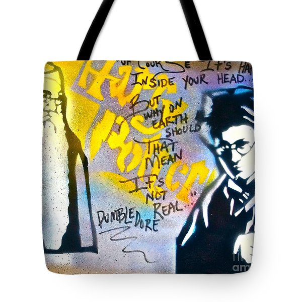 Harry Potter With Dumbledore Tote Bag by Tony B Conscious