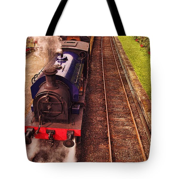 Harry Potters Haverthwaite Railway Station Tote Bag by Graham Hawcroft pixsellpix