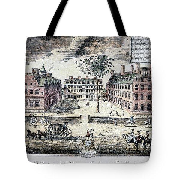 Harvard College, C1725 Tote Bag by Granger