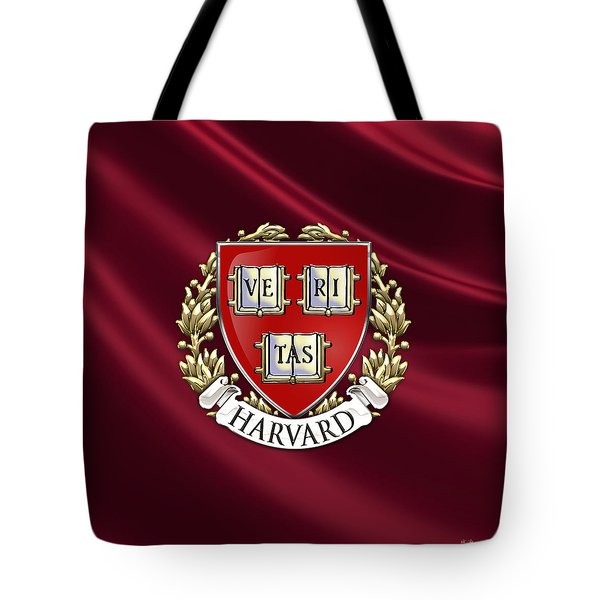Harvard University Seal Over Colors Tote Bag