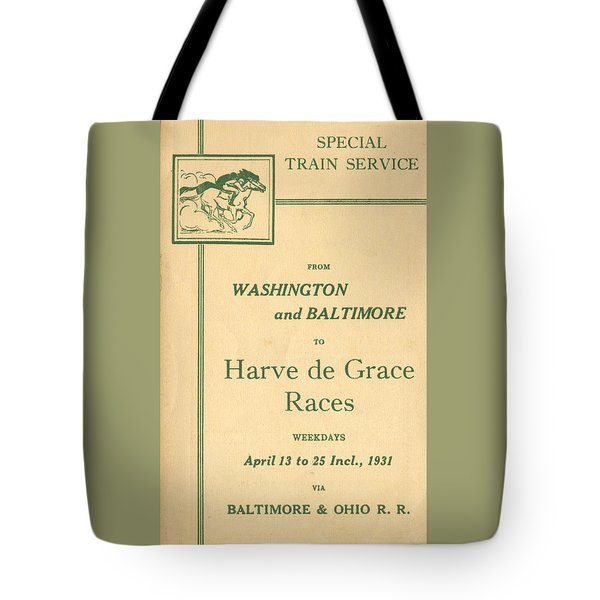 Harve De Grace Races Tote Bag