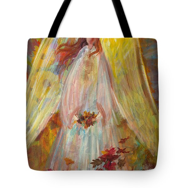 Harvest Autumn Angel Tote Bag