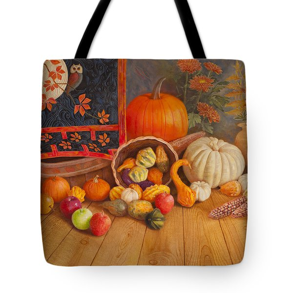 Tote Bag featuring the painting Harvest Bounty by Nancy Lee Moran