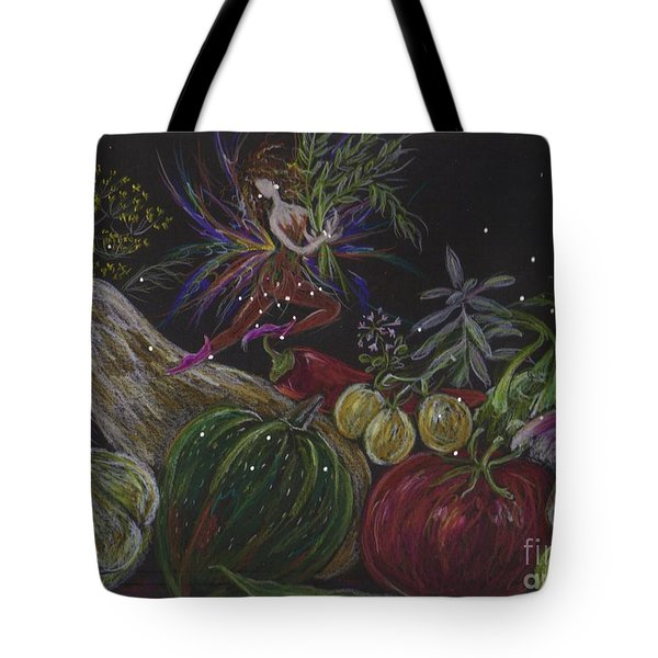 Tote Bag featuring the drawing Harvest by Dawn Fairies