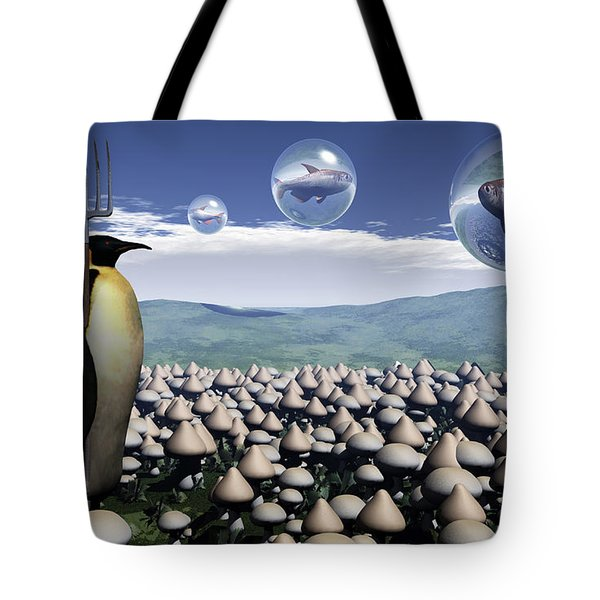 Harvest Day Sightings Tote Bag by Richard Rizzo