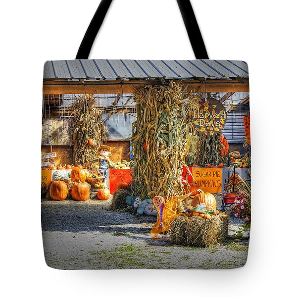 Tote Bag featuring the photograph Harvest Days by David Birchall