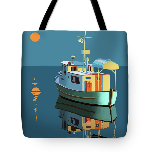 Tote Bag featuring the painting Harvest Moon by Gary Giacomelli