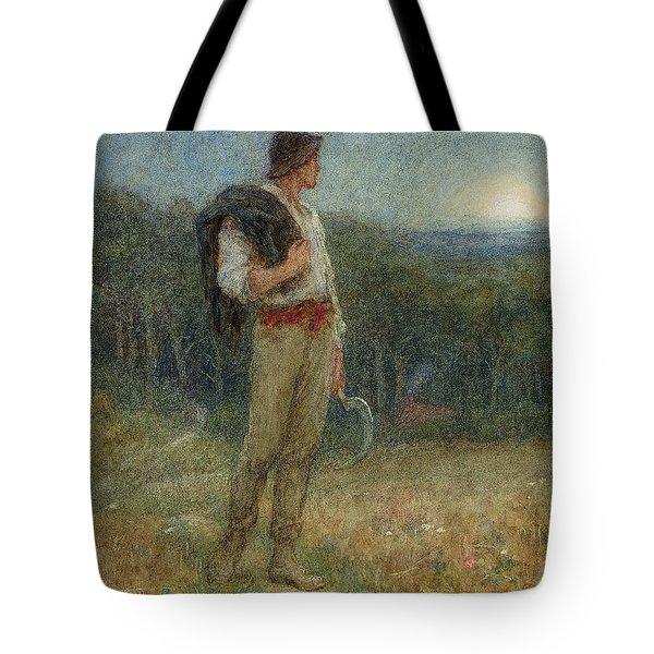Harvest Moon Tote Bag by Helen Allingham