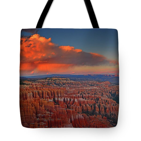 Harvest Moon Over Bryce National Park Tote Bag