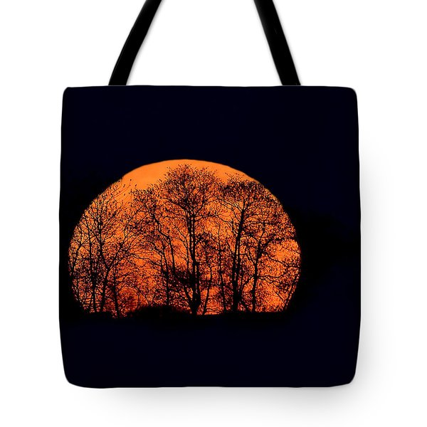 Harvest  Moon Rising Tote Bag