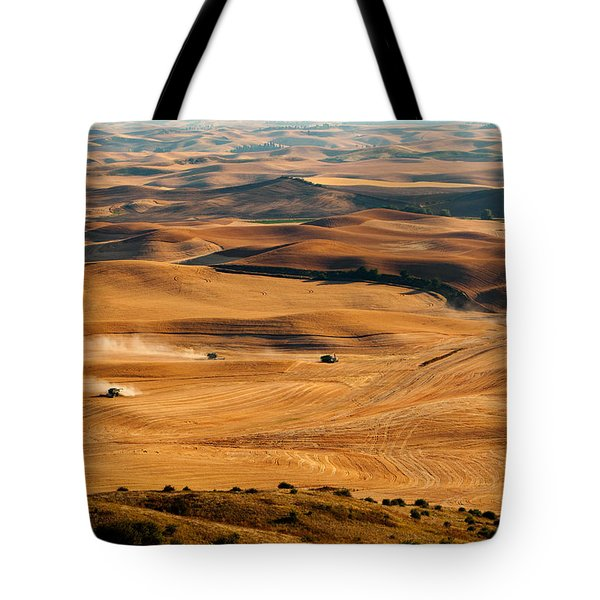 Harvest Overview Tote Bag by Mary Jo Allen