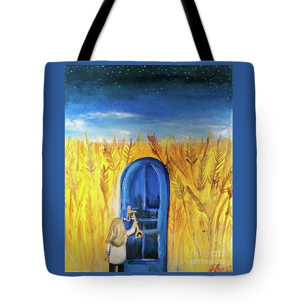 Tote Bag featuring the painting Harvester by Jennifer Page