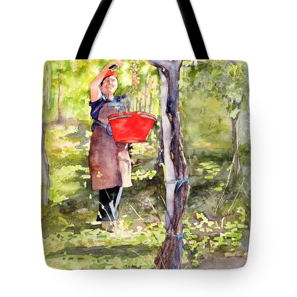 Harvesting Anna's Grapes Tote Bag