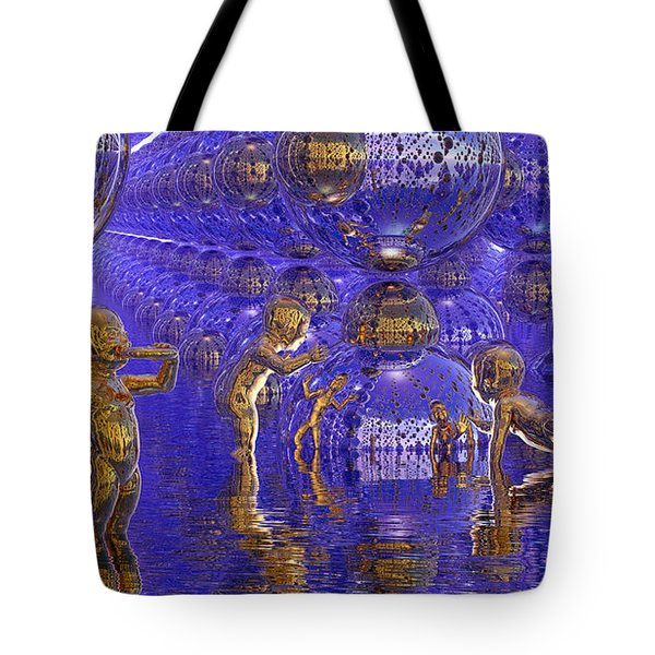 Harvesting Hydrogen Tote Bag by Robby Donaghey