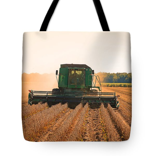 Harvesting Soybeans Tote Bag