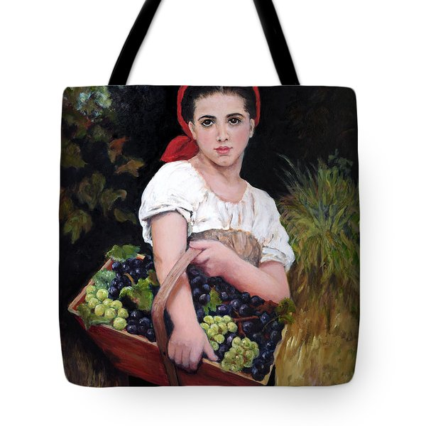 Harvesting The Grapes Tote Bag