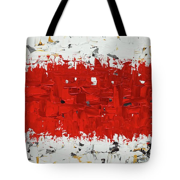 Tote Bag featuring the painting Hashtag Red - Abstract Art by Carmen Guedez
