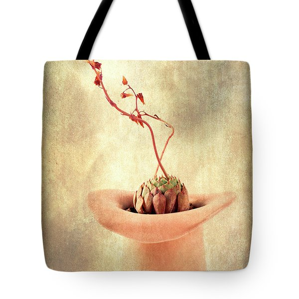 Tote Bag featuring the photograph Hat And Echeveria  by Catherine Lau