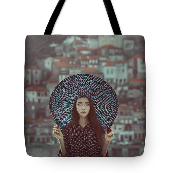 Hat And Houses Tote Bag