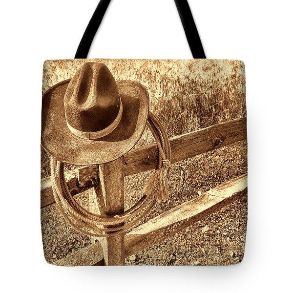 Hat And Lariat Tote Bag