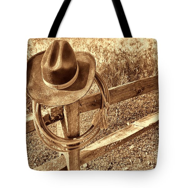 Hat And Lariat Tote Bag