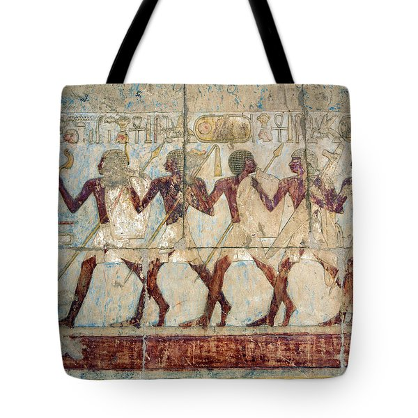 Hatshepsut Temple Parade Of Soldiers Tote Bag