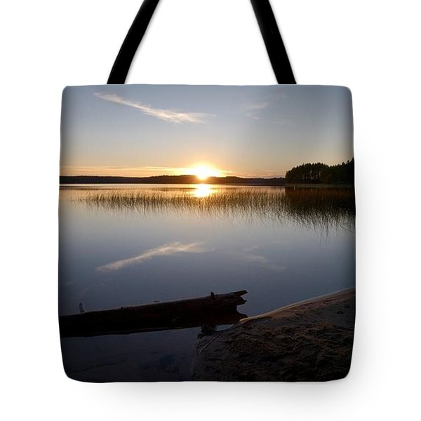 Tote Bag featuring the photograph Haukkajarvi Evening by Jouko Lehto