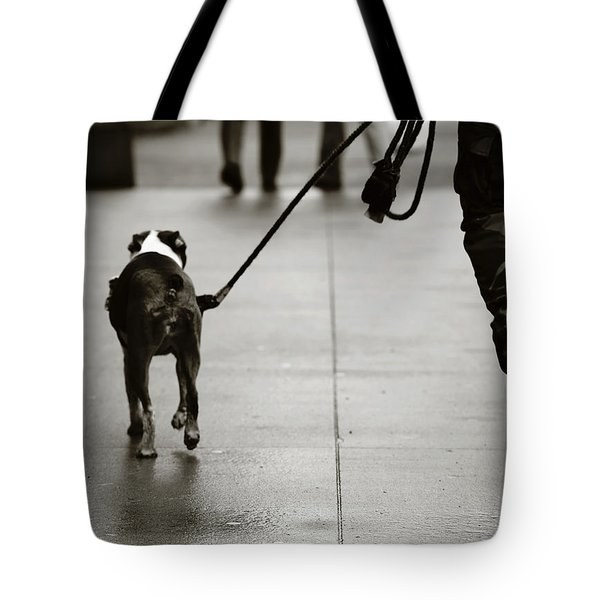 Tote Bag featuring the photograph Hauling Ass by Empty Wall
