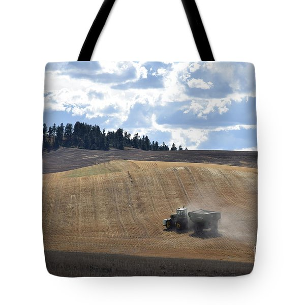 Hauling The Harvest From The Fields. Tote Bag
