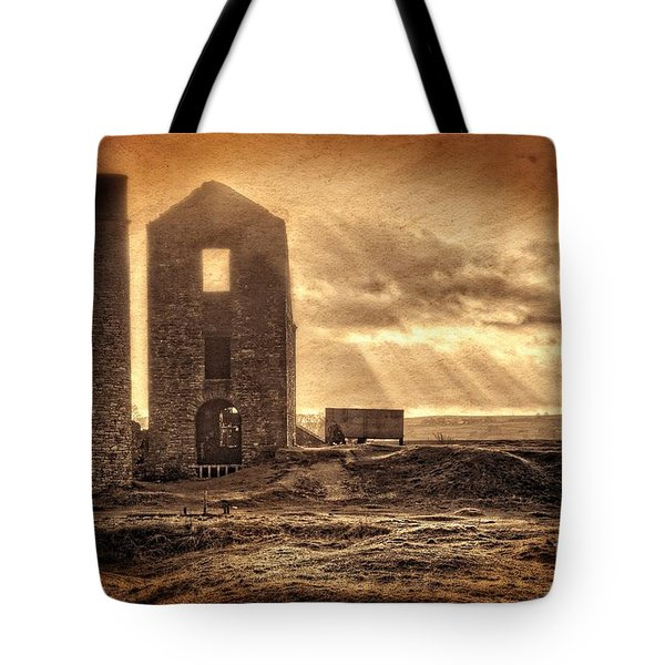 Tote Bag featuring the photograph Haunted Britain - Magpie Mine by David Birchall