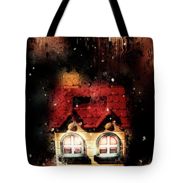 Haunted Doll House Tote Bag