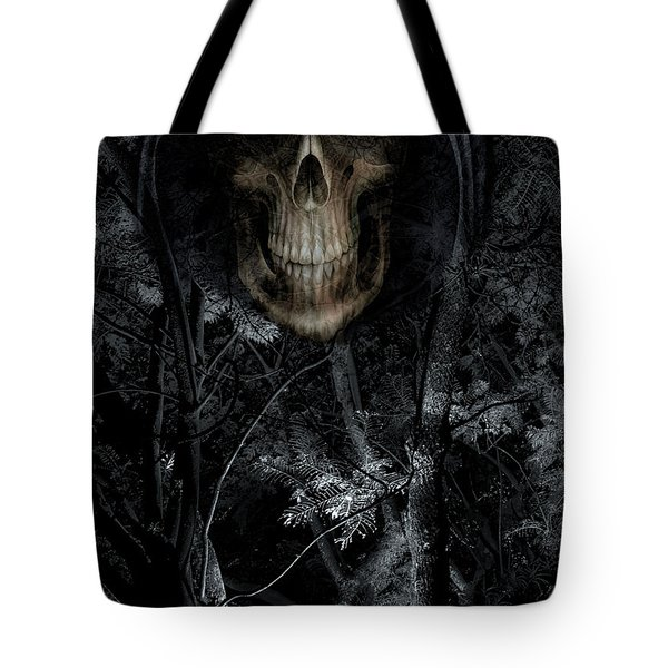 Tote Bag featuring the photograph Haunted Forest by Al Bourassa