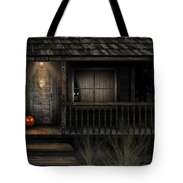 Tote Bag featuring the digital art Haunted Halloween 2016 by Anthony Citro