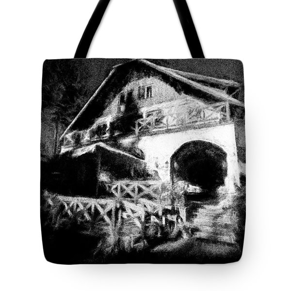 Haunted House Tote Bag by Celso Bressan