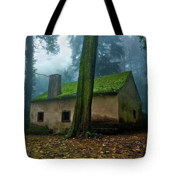 Haunted House Tote Bag by Jorge Maia