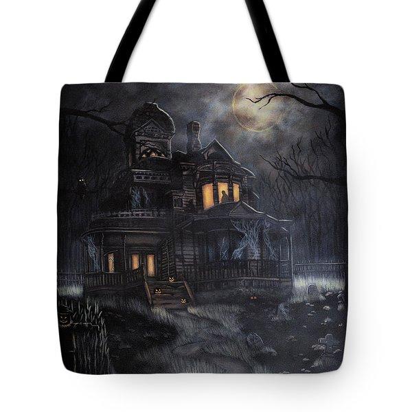 Haunted House Tote Bag by Kayla Ascencio