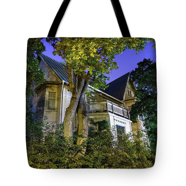 Haunted House Tote Bag by Teemu Tretjakov